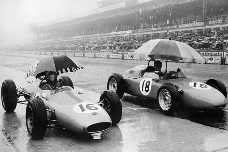 во время ГП Германии. Дождь. Porsche 804 F1 Порше в Ф1 Дорога к победе