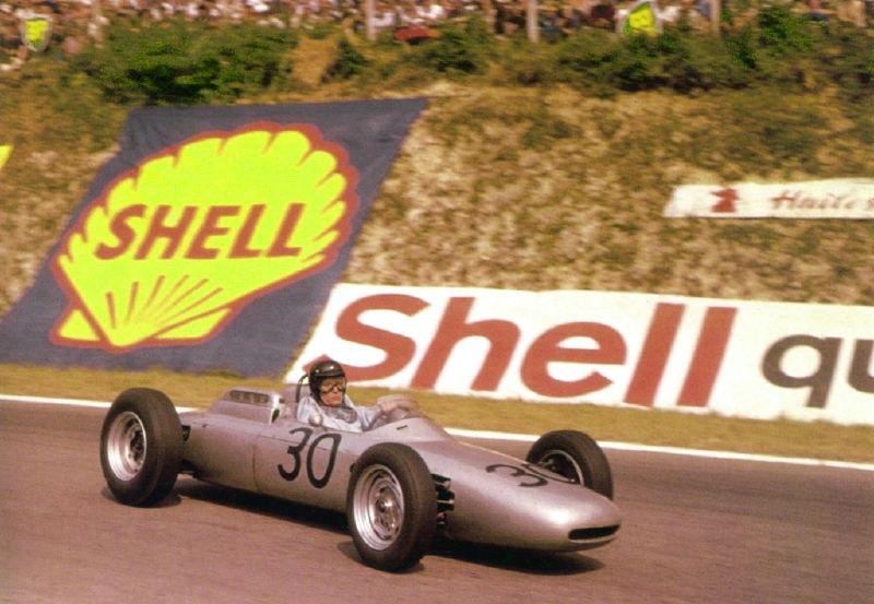 Дэн Герни во время ГП Франции Porsche 804 F1