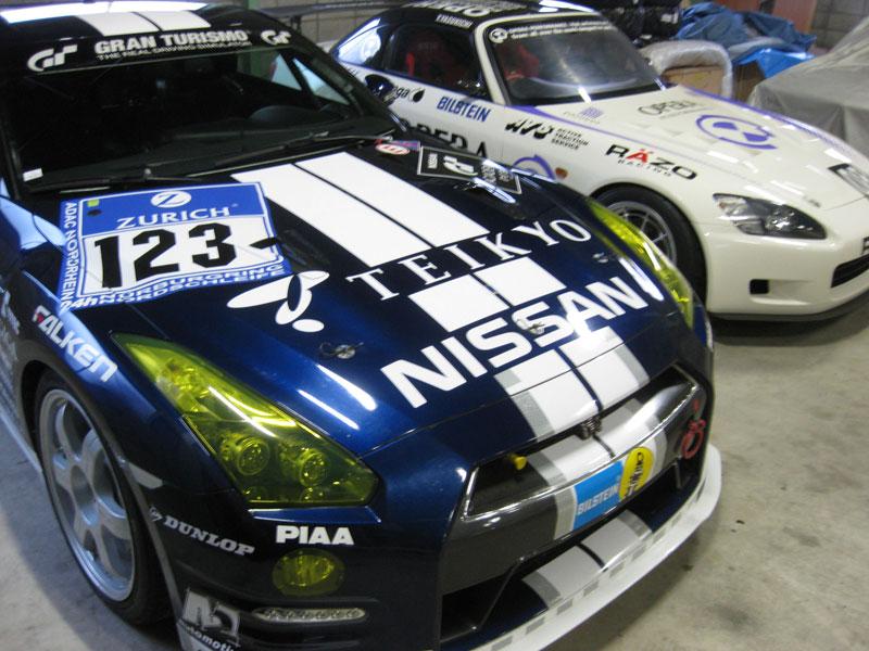 ADAC 24h Nürburgring Nordschleife, класс SP 8. Автомобиль: Team Nissan GT-R, Ямамото и Кадзунори Nissan GT-R (R35)