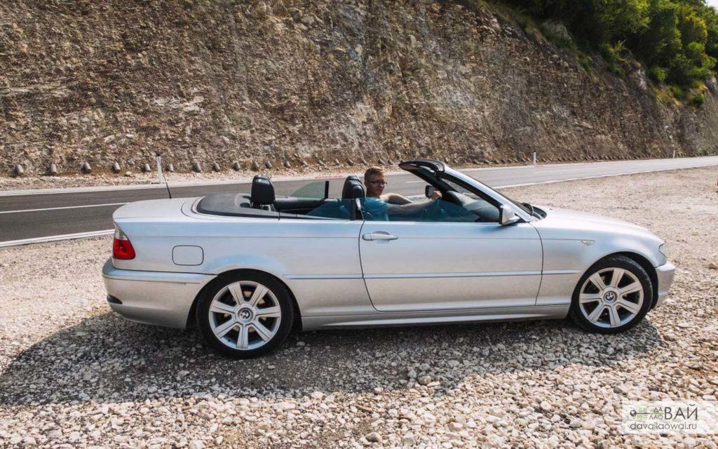 аренда кабриолета в Черногории