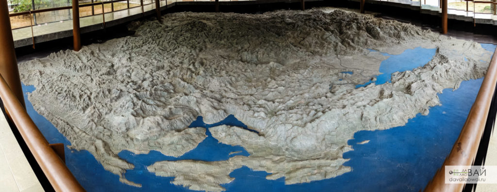 рельефная карта во дворце бильярда