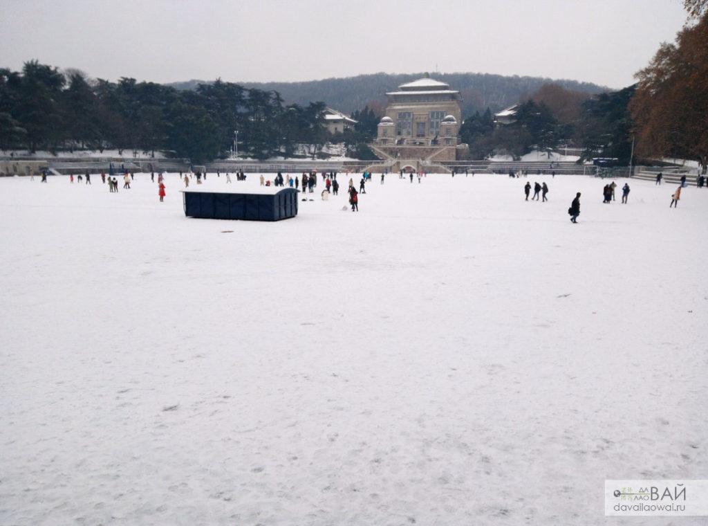 снег в Ухане snow in wuhan