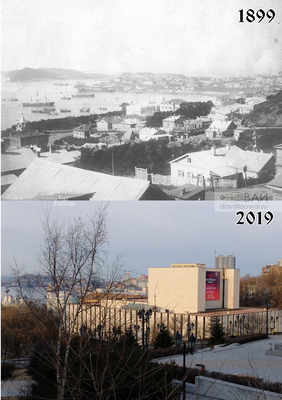 Вид на порт с верху улицы Лазо