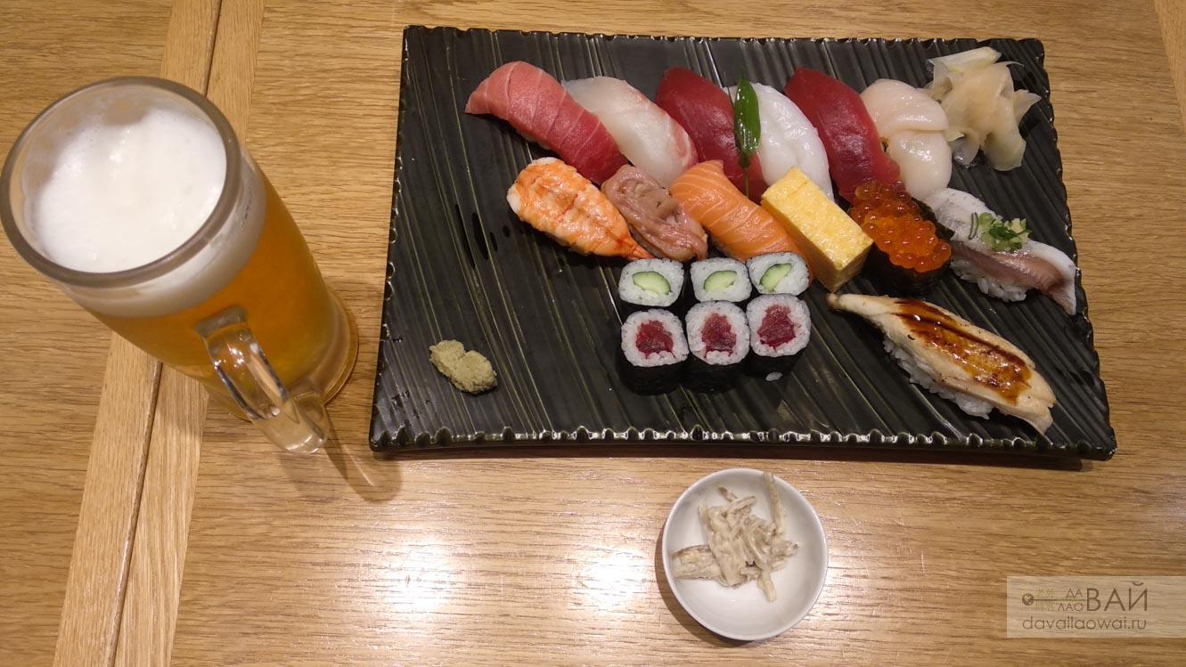 суши бары в японии токио