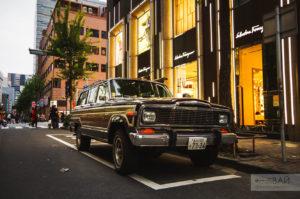 jeep wranglar ginza tokyo