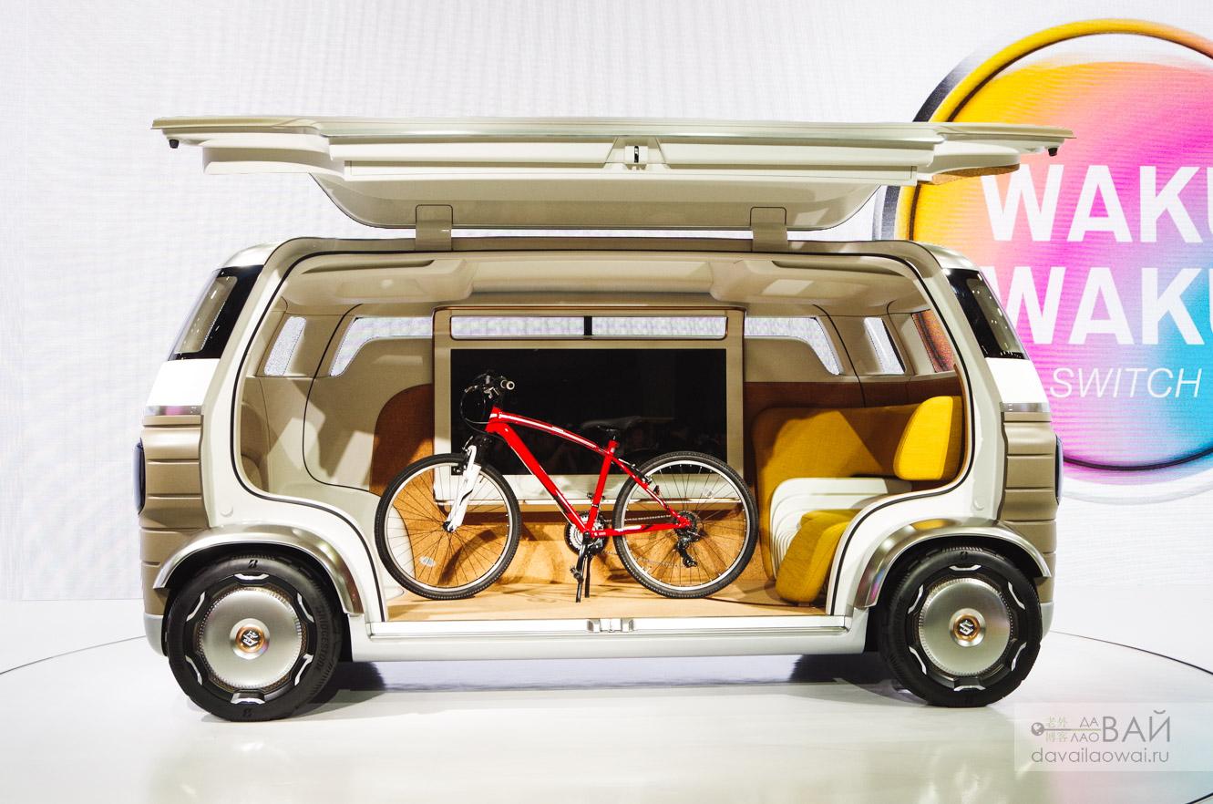 токио автошоу концепт сузуки Suzuki Hanare капсула на колёсах