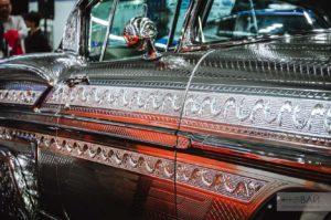 silver Chevy Impala sema on tokyo motor show