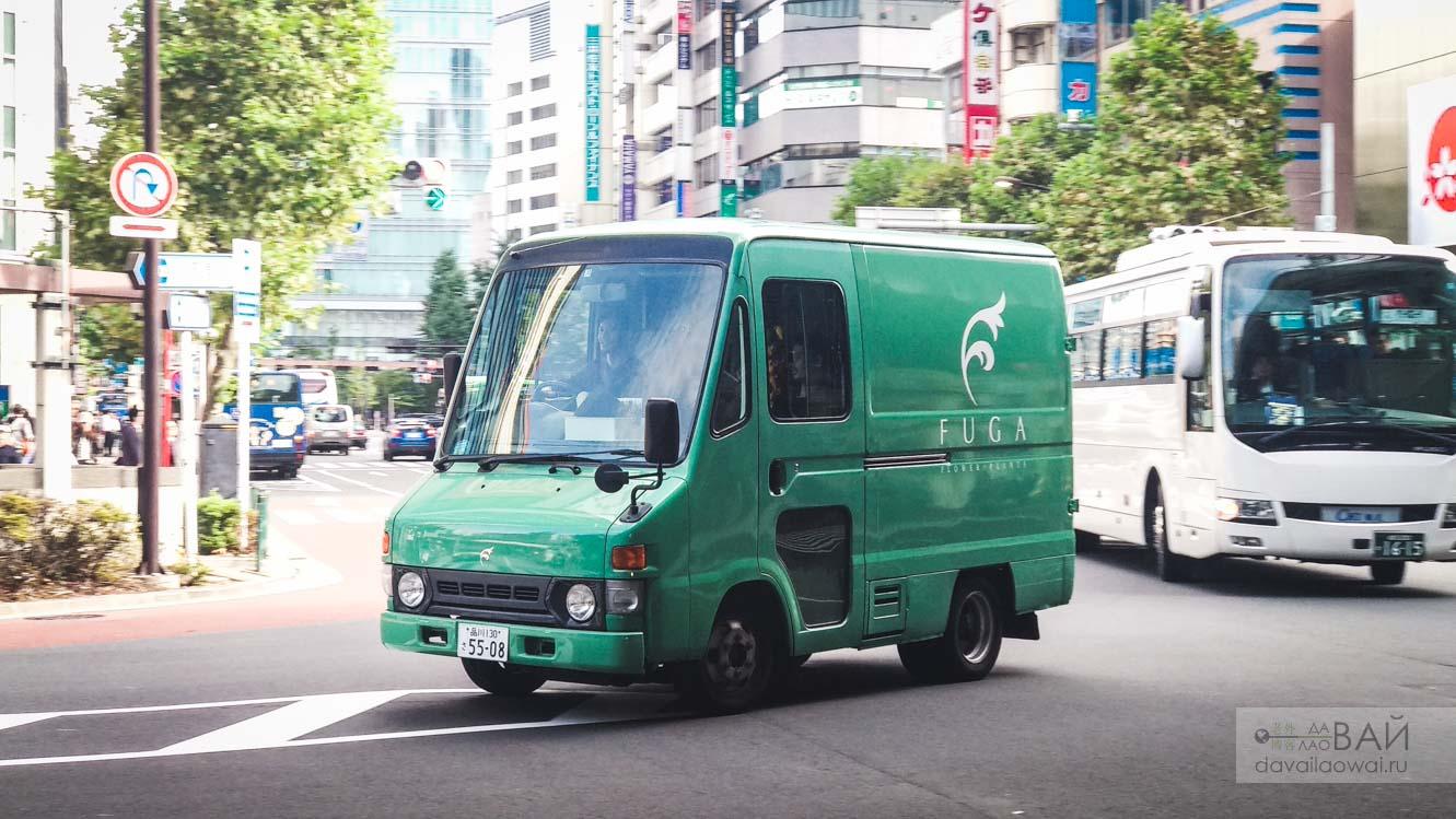 фургон с фугой в токио япония