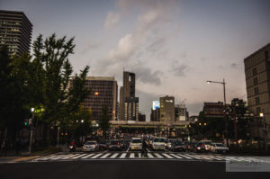 фотографии улиц Осаки модерн архитектура японии
