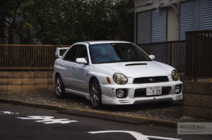 japanese cars street photo subaru