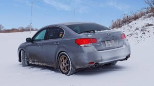 subaru legacy bm 2.5 gt l winter snow rally photo